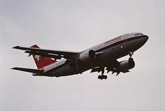 HB-IPA A310 Swissair LHR 19-06-93 (cvtperson) Tags: hbipa a310 swissair london heathrow lhr egll
