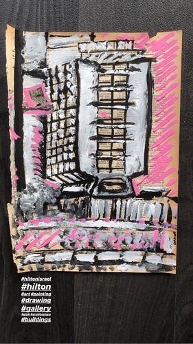 hilton tel aviv hotel painting
