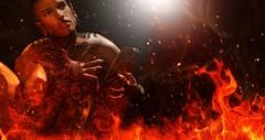 Slayer †720 (✞Slayer Tanaka✞) Tags: vegastattoo maskofthedead gacha tattoo bodyfy revoul ezekiel skins cx septums ears hotdog poses