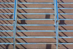 Stairway and shadows (Jan van der Wolf) Tags: map194541vv stairs staircase stairway lines lijnen lijnenspel rhythm visualrhythm ritme shadowplay shadows trap steps handrails leuning trappen lanzarote