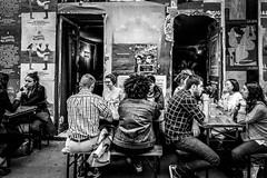 Apéro Sauvage (Ned_Photo) Tags: bar apero street city blackandwhite bw paris cafe noiretblanc terrasse citylife rue bnw streelife