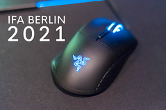 "Gaming Mouse by Razer with blue light and next to the title ""IFA Berlin 2021"" (verchmarco) Tags: ifa aussteller messe küche messeberlin elektronik besucher berlin ces neuheiten visitor mobile technik deutschland 2018 2019 funkausstellung kitchen noperson keineperson internet technology technologie electronics connection verbindung business geschäft machinery maschinen access zugriff mouse maus recreation erholung security sicherheit plastic kunststoff data daten isolated isoliert horizontal safety leisure freizeit industry industrie computer equipment ausrüstung2019 2020 2021 2022 2023 2024 2025 2026 2027 2028 2029 2030 spain nikkor farm camera pet macromondays cielo decoration day eos"