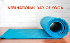 "Blue Roll-Up Yoga Mat on a White Background, for fitness and meditation, with the title ""international day of yoga"" (verchmarco) Tags: rollup closeup exercise whitebackground yogamatblue internationaldayofyoga yoga noperson keineperson paper papier empty leeren clean sauber business geschäft isolated isoliert facts fakten equipment ausrüstung data daten contemporary zeitgemäs family familie horizontal design education bildung indoors drinnen conceptual konzeptionelle service bedienung graphicdesign grafikdesign leisure freizeit health gesundheit2019 2020 2021 2022 2023 2024 2025 2026 2027 2028 2029 2030 market countryside restaurant seascape day ciel cielo vowel windows camera"