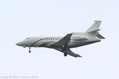 LX-SAB - 2008 build Falcon 900DX, on approach to Runway 23R at a grey, damp Manchester (egcc) Tags: 619 bizjet dassault egcc falcon falcon900 falcon900dx globaljetluxembourg lxsab lxsvw lightroom man manchester ringway svw56ab