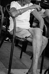 The pose III (JamieDieu) Tags: nikond3300 greece nikon digital nikkor 18200mm lefkada street old woman blackandwhite