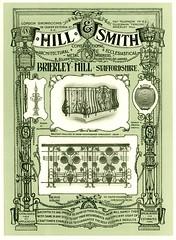 Hill & Smith Advertisement. Ironwork .1909. (growlerthecat) Tags: hillsmith brierleyhill metalwork wroughtiron ironwork fencing railings gates signs