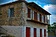 A picturesque house with hagiati at Akovos village (Elias Chris) Tags: akovos αρκαδία μεγαλόπολη άκοβοσαρκαδίασ arcadia arkadia arcadiagreece greece house