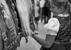 La bambina che sussurra al cavallo (o.solemio) Tags: photo n°495 minoosolemio disc jockey bambina child cavallo criniera blackewhithe monocromo leicavlux