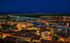 Night view over Castiglione della Pescaia (Robert Stärz) Tags: townscape buildingexterior cityscape oldtown skyline landmark city culture townsquare touristdestination tower cities castiglionedellapescaia tuscany toscana toskana grosseto italy italia italien hdr landscape landscapephotography landschaft dusk fineartphotography fineartlandscape fineart siena vald'orcia national