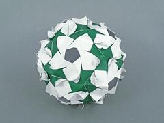 Primula (masha_losk) Tags: kusudama кусудама origamiwork origamiart foliage origami paper paperfolding modularorigami unitorigami модульноеоригами оригами бумага folded symmetry design handmade art