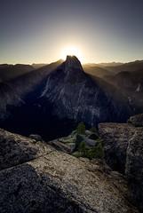 A Study in Light (Omnitrigger) Tags: landscape california composition outdoor nature glacierpoint nationalpark summer light sunstar sunrise granite halfdome outside yosemite