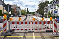 Mit der Erneuerung des Rondells geht auch eine Umgestaltung der Haltestelle in der Romanstraße einher (Bild: Peter Schricker) (Frederik Buchleitner) Tags: baustelle munich münchen romanplatz strasenbahn streetcar tram trambahn