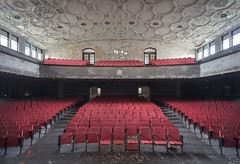 Red Dawn. (Ewski Images) Tags: abandonedplaces beautyindecay sony urbex school auditorium theater exploration explore abandoned decay