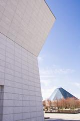 Aga Khan Museum & The Ismaili Centre (Rackelh) Tags: building buildings architecture museum sky spring white blue toronto ontario canada