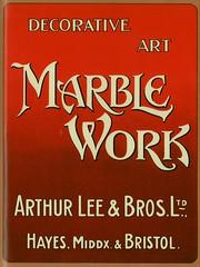 Arthur Lee & Bros. Marble Work. 1910 Advertisement (growlerthecat) Tags: marble stonemasons