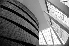 Interior (Explored) (d-stop) Tags: windows blackandwhite bw building geometric lines oslo norway architecture europe interior room curves angles wideangle lobby operahouse 2019 nordics dstop sigma816 explored