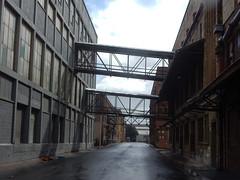 Factory Walkways (mikecogh) Tags: portadelaide street factory warehouses walkways connected industry aerial