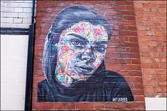 Portrait - DSCF1881a (normko) Tags: london west end grafitti wall street portrait mural pasteup ant carver