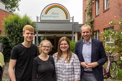 Beim Haus Regenbogen der Diakonie in Kreyenbrück habe ich mit den Freiwilligen gesprochen.
