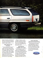 1986 Ford Taurus Wagon Page 2 USA Original Magazine Advertisement (Darren Marlow) Tags: 1 6 8 9 19 86 1986 f ford t taunus w wagon c car cool collectible collectors classic a automobile v vehicle g german germany e european europe 80s