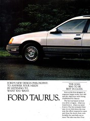 1986 Ford Taurus Wagon Page 1 USA Original Magazine Advertisement (Darren Marlow) Tags: 1 6 8 9 19 86 1986 f ford t taunus w wagon c car cool collectible collectors classic a automobile v vehicle g german germany e european europe 80s