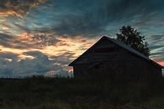 Old Barn House On An Early Autumn Night (k009034) Tags: 500px wooden copy space finland outdoors rural scene scandinavia tranquil agriculture barn house birch building clouds countryside dramatic sky evening farm farming fields landscape moody nature no people old serenity silhouette summer sunset trees teamcanon copyspace ruralscene tranquilscene barnhouse dramaticsky moodysky nopeople