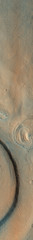 Layered Feature on the Northern Plains of Mars (sjrankin) Tags: 20june2019 edited nasa mars mro marsreconnaissanceorbiter layers crater northernplains