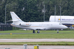 N1JK - 2007 build Dassault Falcon Falcon 2000EX, taxiing to parking at Signature on arrival at Manchester (egcc) Tags: 130 bizjet dassault easy egcc falcon falcon2000 falcon2000ex lightroom man manchester n1jk pegasussouth ringway