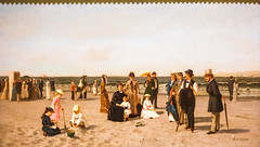 Beach Scene (Thomas Hawk) Tags: balboapark beachscene california coneyisland newyork samuelcarr samuelscarr sandiego sandiegoartmuseum usa unitedstatesofamerica beach painting fav10