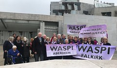 With Waspi campaigners outside Holyrood
