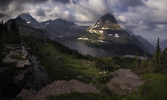 Early Morning On The Hidden Lake Trail (WJMcIntosh) Tags: glaciernationalpark hiddenlake sunrise hiddenlaketrail