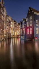 Dutch Venice (timexzy123) Tags: amsterdam behindthelenscap canal city cityscape houses michielbuijse netherlands night nightphotography redlight water