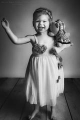 Little girl (Passie13(Ines van Megen-Thijssen)) Tags: studioshoot littlegirl girl kid happy portrait portret studio blackandwhite bw sw zw zwartwit monochroom monochrome monochrom canon netherlands inesvanmegen inesvanmegenthijssen
