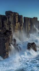 The Quarry (timexzy123) Tags: australia bomboquarry kiama seascape southcoast sunrise blue fortress kiamanswaustralia ocean power rocks strength bluesky blur cliffs clouds coast goldenhour longexposure motionblur mountainous mountains powerful sea splash spray sunset tidal tide waves