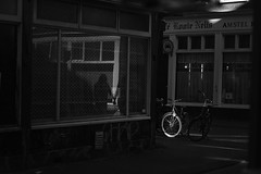 Reflection of Love (Acocchi) Tags: love couple bikes bike reflection blackandwhite black white monochromatic monochrome amsterdam streetphotography street people details shadows light