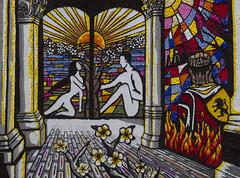 la coppia (Paolo Dell'Angelo (JourneyToItaly)) Tags: festadeipugnaloni acquapendente provinciadiviterbo lazio italia italy petali petals colours workofart tourism mosaics