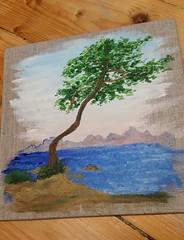 comme à Kalamaki (ghjattu1601) Tags: impressionisme peinture mer mare grèce kalamaki été soleil bleu bue three petitformat rêve passion acrylique tempslibre vacances
