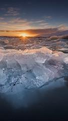 Ice on Fire (timexzy123) Tags: atardecer glaciar glacier helado hitech iceland islandia jokulsarlon lago lagoon lucroit sunset