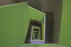 The green.. (Elbmaedchen) Tags: staircase stairs stairwell stufen steps treppenhaus treppenstufen grün green vert architektur architecture linien interior upanddownstairs unterwegsmitfrank charité berlin modern roundandround