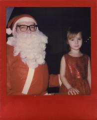 Must Be Santa (Magnus Bergström) Tags: polaroid polaroid680slr polaroidoriginals polaroidslr680 instant film instantfilm red metallic redmetallic 600 sweden värmland wermland portrait christmas xmas ekshärad hagfors