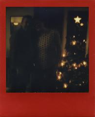 Out of the Darkness (Magnus Bergström) Tags: polaroid polaroid680slr polaroidoriginals polaroidslr680 instant film instantfilm red metallic redmetallic 600 sweden värmland wermland portrait christmas xmas ekshärad hagfors
