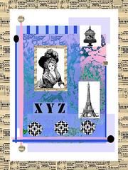 music (ladybumblebee) Tags: digitalart digitalcollage music layers contemporarywomenartists