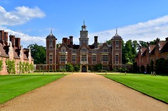 Blickling Hall (rustyruth1959) Tags: uk windows chimney england house building architecture nikon estate outdoor nt norfolk lawn driveway walls mansion nationaltrust grounds anneboleyn blicklinghall alamy blicklingestate boleynfamily tamron16300mm nikond5600 door clock entrance clocktower trees sky ivy historic