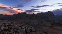 The very first light (methariorn78) Tags: landscape paesaggio tofane dolomiti dolomites dolomiten sunrise dawn bluehour goldenhour rocks stone details mountains mountainscape montagna italy itala passofalzarego lagazuoi nature natura outdoor outside nopeople nobody sky clouds colors purple blue red glow