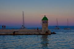 Lighthouse, Island of Brac, Croatia [Explore] (Bokeh & Travel) Tags: bol brac brač croatia kroatien hrvatska mediterranean beach lighthouse zlatnirat goldenhorn seascape sea sunset sunsetcolors summer vacation island beautiful colorful seasideview