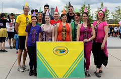 Crayola Crayons (Anthony Mark Images) Tags: funny excited smiles shorts leggings tshirts charityrace runners runningshoes groupphoto male female fun people portrait canada ottawa ontario cute crayons crayolacrayons colours nikon d850 flickrclickx team