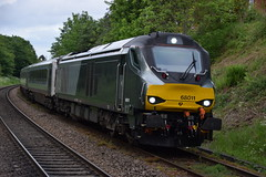 68011 (Great Eastern Rail Photography) Tags: class68 chilternrailways kidderminsterstation