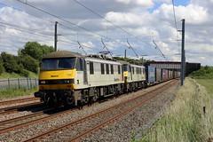 90047 90048 4S44 Winwick (cmc_1987) Tags: 90047 90048 class90 brel br britishrail freightliner geneseewyoming doubleheader 4s44 winwick daventry coatbridgeflt wcml intermodal containers
