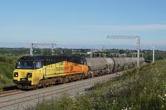 70817 20-06-19 (IanL2) Tags: colas colasrailfreight class70 70817 ge wellingborough northamptonshire mml cement railways trains freight