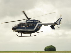 Caen-Carpiquet Airport. (aitch tee) Tags: caencarpiquetairport daksovernormandy 75thanniversary ianallanaviationtour normandy france eurocopter jbh gendarmerie ec145